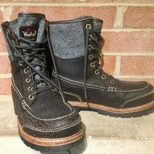 WOOLRICH MEN'S FULLY WOOLLY SQUATCH SUEDE BOOTS 10